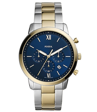 Fossil Men's Neutra Chronograph Two-Tone Stainless Steel Watch