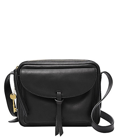 Fossil Mila Leather Zippered Crossbody Bag