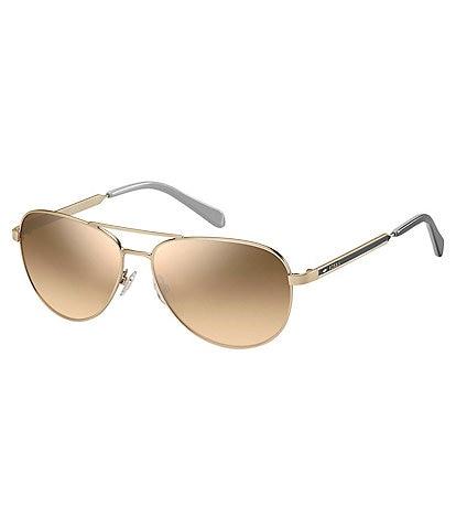 Fossil Mirrored Aviator Sunglasses