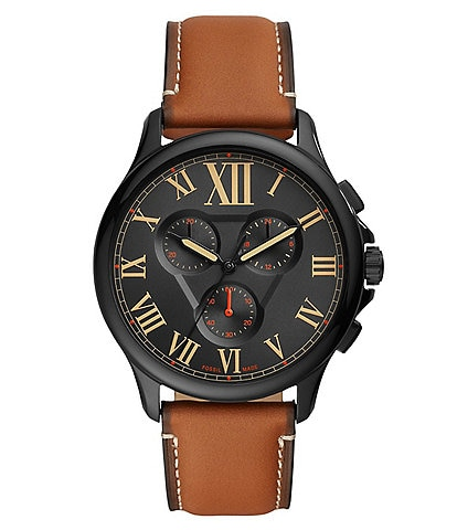 Fossil Monty Chronograph Brown Leather Strap Watch