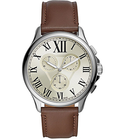 Fossil Monty Chronograph Brown Leather Watch