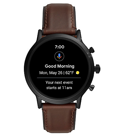 Fossil Q Generation 5 The Carlyle HR Leather Smart Watch