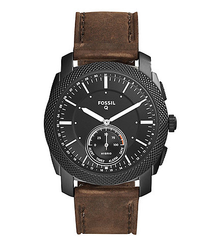 Fossil Q Hybrid Smartwatch - Q Machine Dark Brown Leather