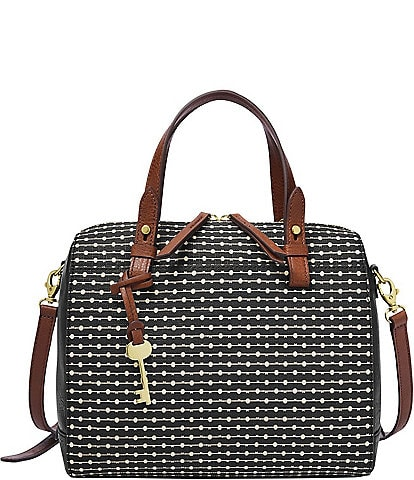 Fossil Rachel Stripe Satchel Bag