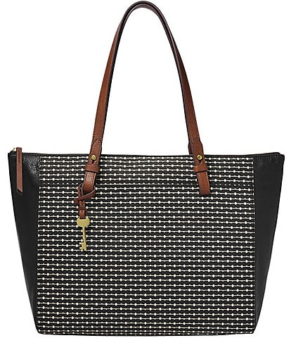 Fossil Rachel Stripe Zip Tote Bag