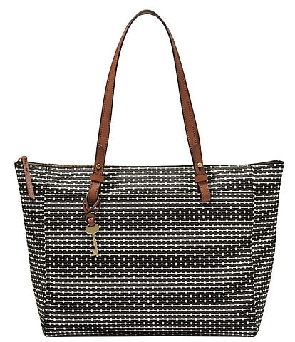 Fossil Rachel Striped Zip Tote Bag
