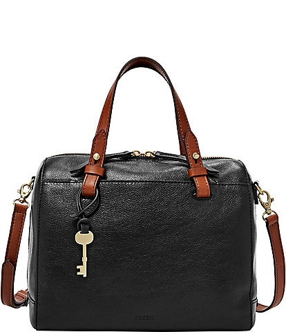 Fossil Rachel Zip Leather Satchel Bag