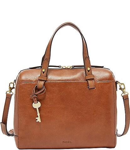 Fossil Rachel Zip Leather Satchel Bag