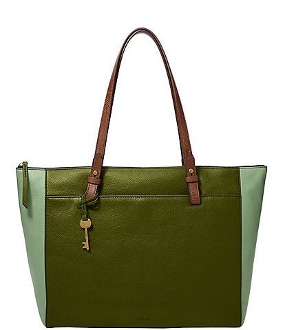 Fossil Rachel Leather Zip Tote Bag