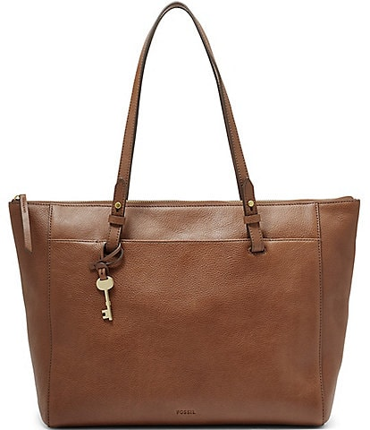 Fossil Rachel Zip Leather Tote Bag