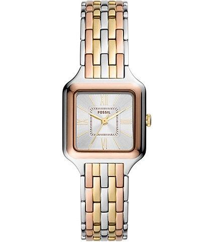 Fossil Raquel Three-Hand Tri-Tone Stainless Steel Bracelet Watch