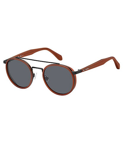 Fossil Round Top Bar Sunglasses