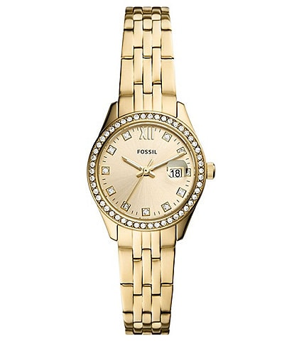 Fossil Scarlette Micro Three-Hand Date Gold-Tone Stainless Steel Watch