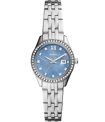 Fossil Scarlette Micro Three-Hand Date Stainless Steel Watch
