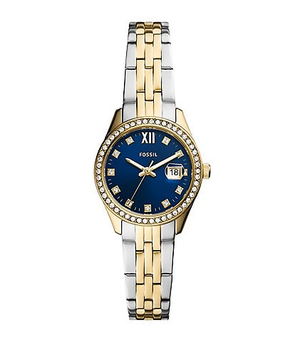 Fossil Scarlette Micro Three-Hand Date Two-Tone Stainless Steel Watch