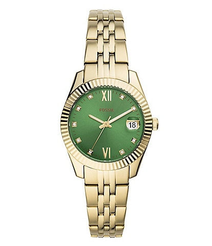 Fossil Scarlette Mini Three-Hand Date Gold-Tone Stainless Steel Watch