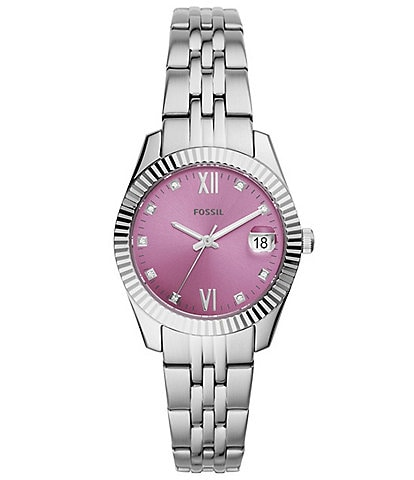 Fossil Scarlette Mini Three Hand Date Stainless Steel Bracelet Watch