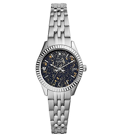 Fossil Scarlette Mini Three-Hand Date Stainless Steel Watch