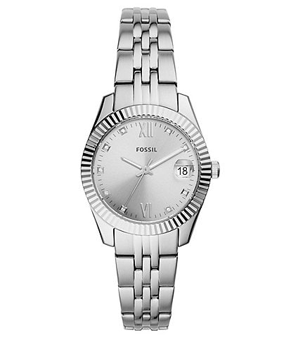 Fossil Scarlette Mini Three-Hand Stainless Steel Bracelet Watch