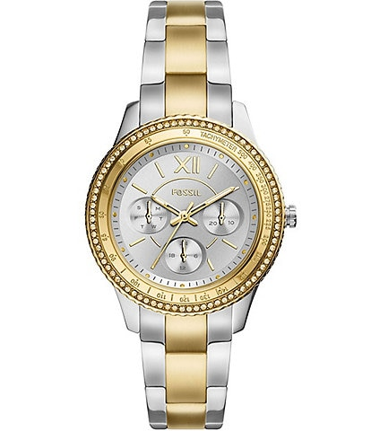 Fossil Stella Sport Multifunction Two-Tone Stainless Steel Watch