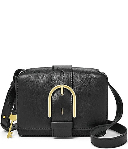 Fossil Wiley Buckle Leather Snap Crossbody Bag