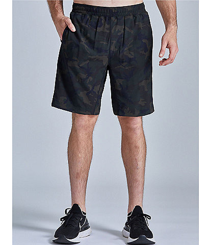 Fourlaps Advance Training 9#double; Inseam Camo Stretch Shorts