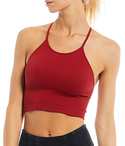 Free People FP Movement Cropped Scoop High Neck Run Tank