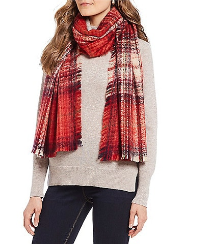 Fraas Ombre Plaid Boucle Blanket Wrap
