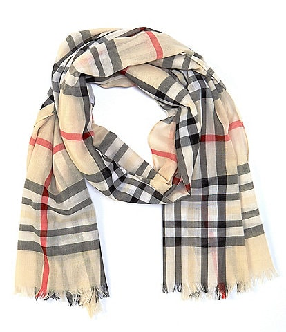 Fraas Plaid Oblong Scarf