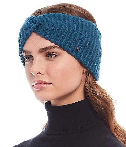 Fraas Women's Wide Twist Ribbed Cashmere Headband