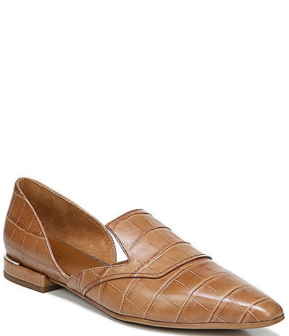 Franco Sarto Artisan Croc Embossed Leather d'Orsay Flats