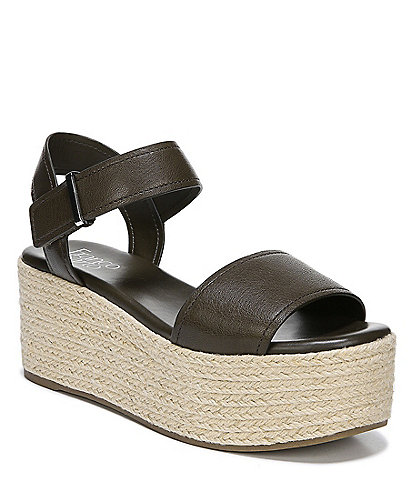 Franco Sarto Ben Leather Flatform Espadrille Sandals