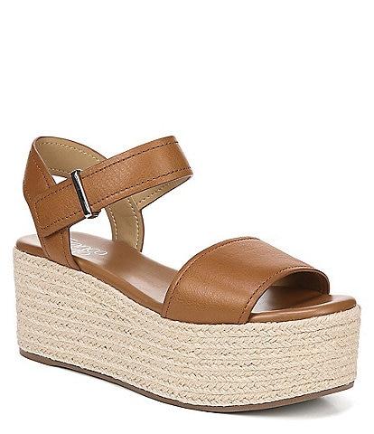 Franco Sarto Ben Nubuck Leather Platform Espadrille Sandals