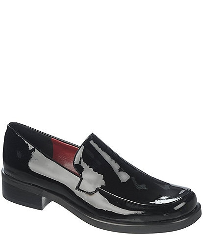 Franco Sarto Bocca Patent Leather Block Heel Loafers