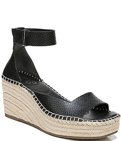 Franco Sarto Camera Snake Print Espadrille Sandals