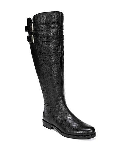 Franco Sarto Christoff Tall Wide Calf Leather Block Heel Boots
