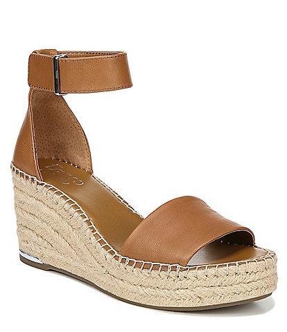 Franco Sarto Clemens Espadrille Leather Platform Sandals