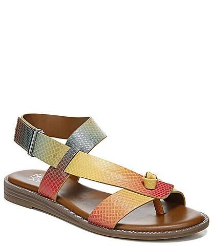Franco Sarto Glenni Rainbow Ombre Snake Print Thong Sandals