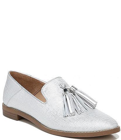 Franco Sarto Hadden2 Metallic Fabric Tassel Loafers