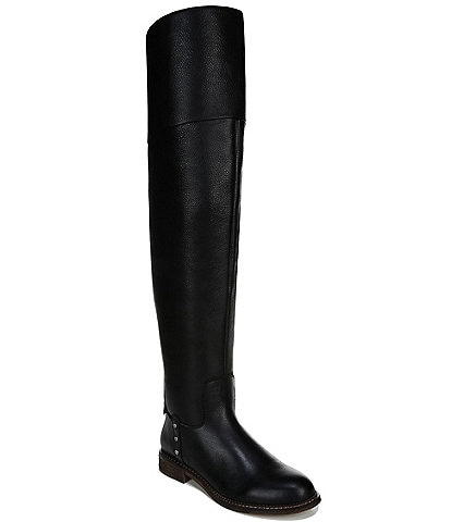Franco Sarto Haleen Leather Over-The-Knee Block Heel Riding Boots
