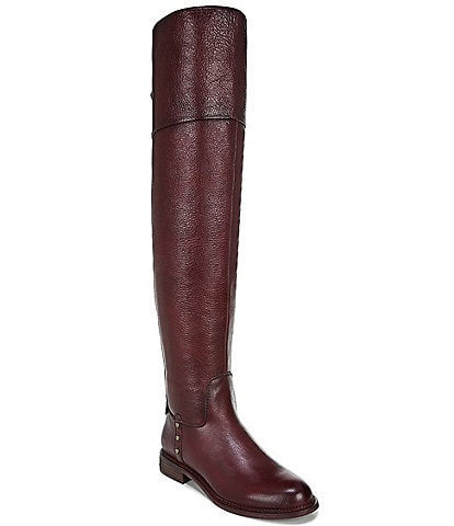 Franco Sarto Haleen Leather Over-The-Knee Wide Calf Block Heel Riding Boots