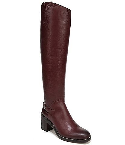 Franco Sarto Kiana Leather Tall Block Heel Boots