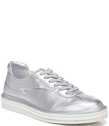 Franco Sarto Lumiere Metallic Lace-Up Sneakers