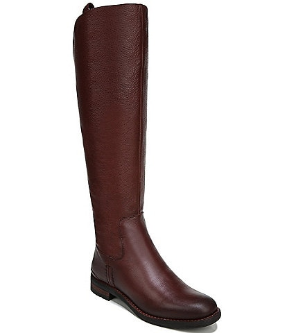 Franco Sarto Meyer Leather Tall Wide Calf Leather Boots