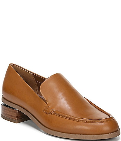 Franco Sarto New Bocca Leather Block Heel Loafers