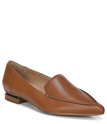 Franco Sarto Starland Leather Block Heel Loafers