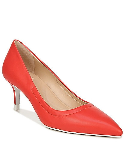 Franco Sarto Trolley Leather Pointed Toe Stiletto Heel Pumps