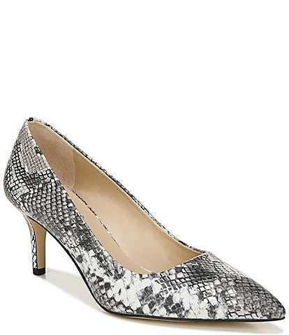 Franco Sarto Tudor Metallic Snake Print Pointed Toe Stiletto Heel Pumps