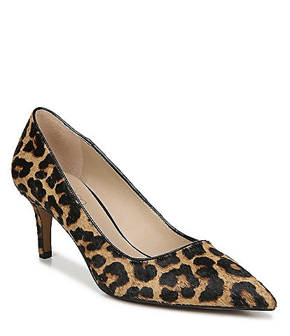 Franco Sarto Tudor2 Leopard Print Calf Hair Pumps