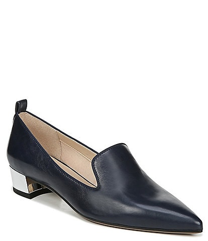 Franco Sarto Vianna Leather Block Heel Loafer Pumps